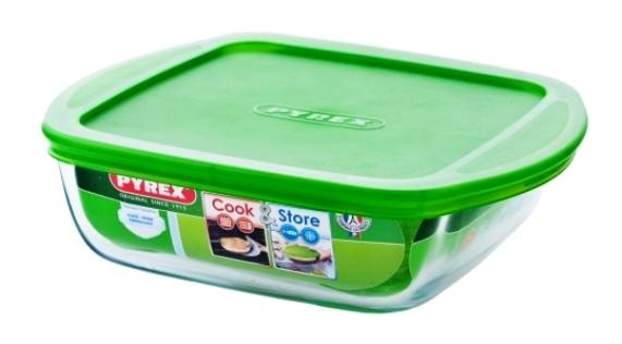 Форма для запекания квадратная с крышкой Pyrex Cook&Store 211P000/5046