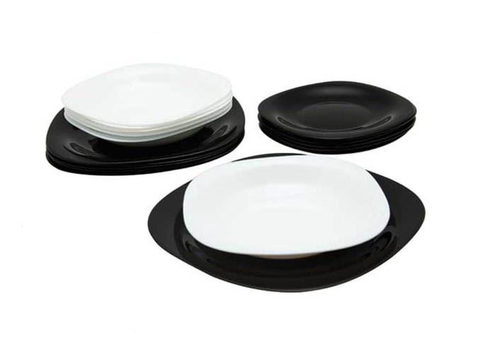 Столовый сервиз 19 пр. Luminarc Carine Mix Black&White D2381