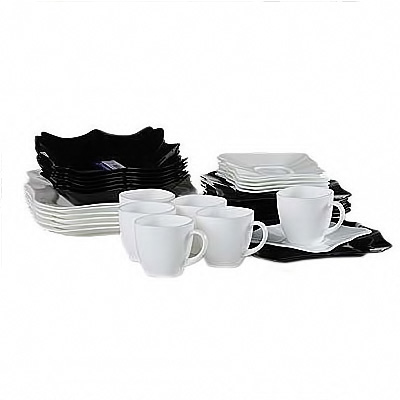 Столовый сервиз 30 пр. Luminarc Authentic Mix Black&White E6199