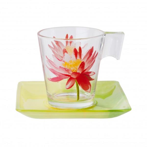 Чайный сервиз 220мл Luminarc Water Flower E8131