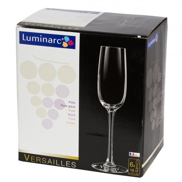 Набор фужеров для шампанского 160мл 6шт Luminarc Versailles G1484