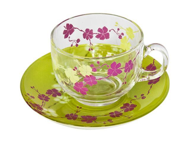 Чайный сервиз 220мл Luminarc Kashima Green H0062