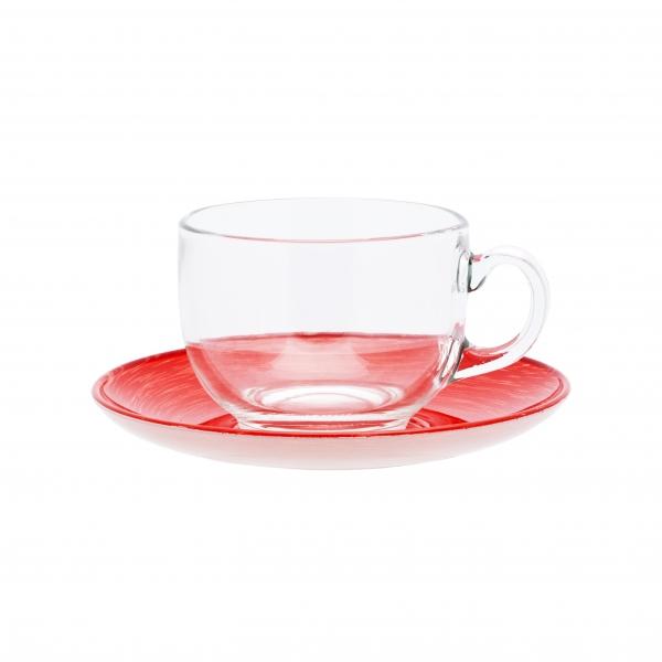 Чайный сервиз 220мл Luminarc Stonemania Red H3765