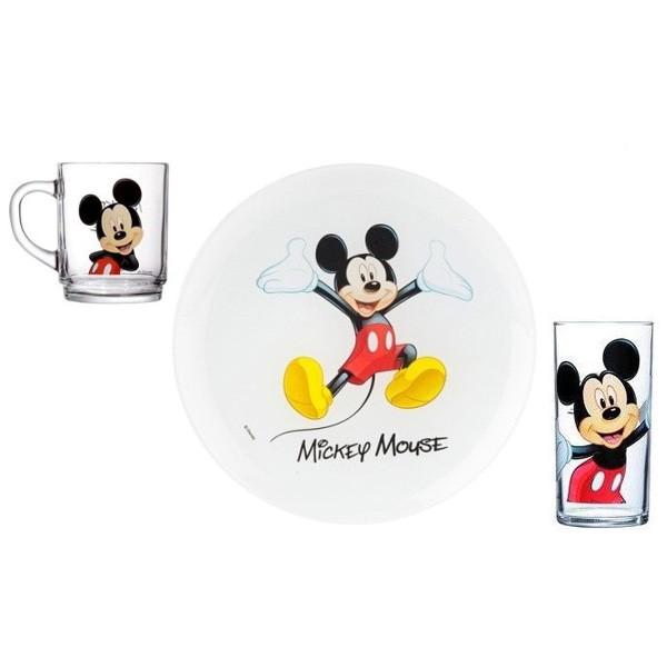 Детский набор 3 предмета Luminarc Disney Mickey Colors H5320