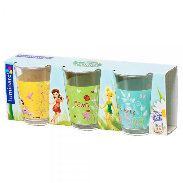 Набор стаканов 160мл 3шт Luminarc Fairies Buterfly H5836