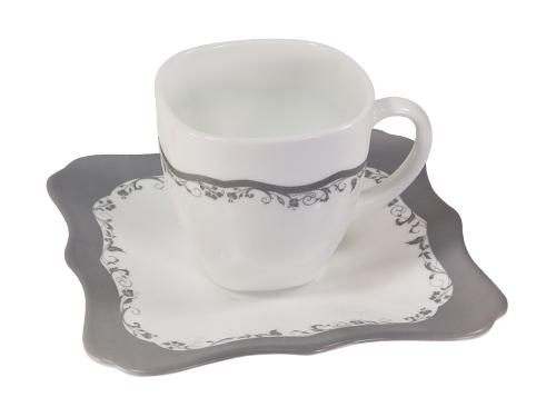 Чайный сервиз 220мл Luminarc Authentic Silver H8388