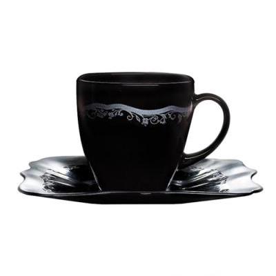 Чайный сервиз 220мл Luminarc Authentic Silver Black H8407