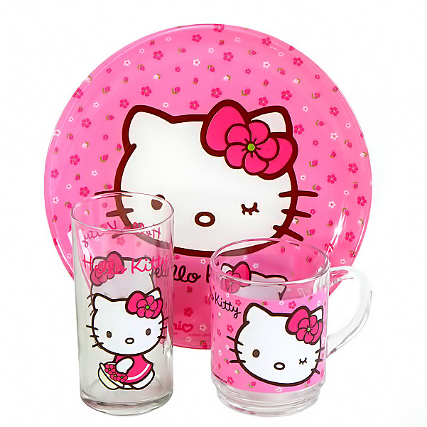 Детский набор 3 предмета Luminarc Hello Kitty J2288