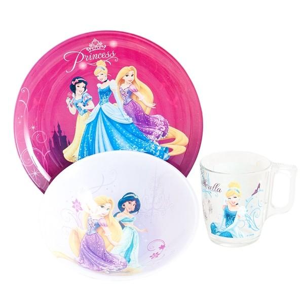 Детский набор 3 предмета Luminarc Disney Princess Royal J3997 (H1492)