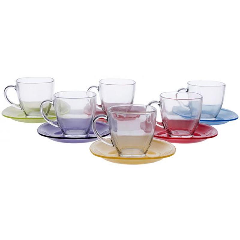 Чайный сервиз 220мл Luminarc Carine Rainbow J5978