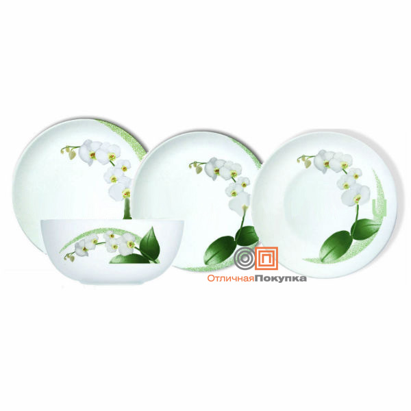 Столовый сервиз 19пр. Luminarc White Orchid J7497