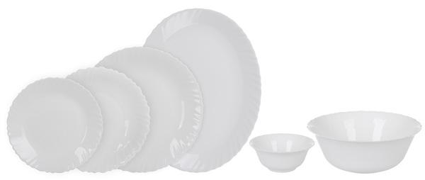 Столовый сервиз 26пр Arcopal Feston White L5300