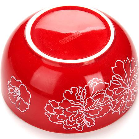 Чаша-супница 580мл Loraine Красный Узор LR-25833