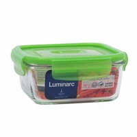 Контейнер квадратный 0.76л Luminarc Pure Box Active Green N2407