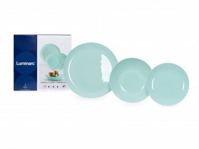 Столовый сервиз 18 предметов Luminarc Diwali Light Turquoise P2963 - купить в Интернет-магазине Отли