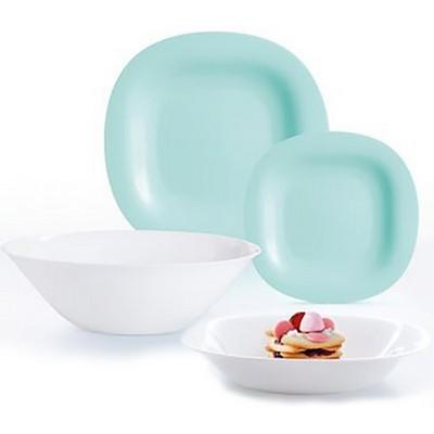 Столовый сервиз 19 предметов Luminarc Carine Light Turquoise&White P7627 - купить в интернет-магазин
